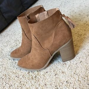 Universal Thread Leather Booties, worn once